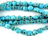 Turquoise Magnesite Skull Gemstone Beads 6mm (GS3031)