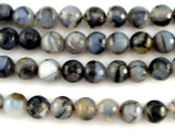Montana Agate Faceted Round Gemstone Beads 10mm (GS3052)