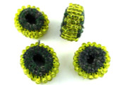 Yellow Beaded Felt Donut - Afghanistan 20mm (AF1376)