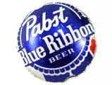 Pabst Blue Ribbon Bottle Cap Bead - Small 15mm (BCB12)