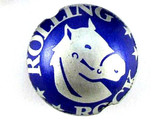 Rolling Rock Bottle Cap Bead - Small 15mm (BCB17)