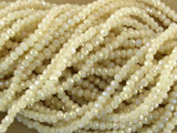 Pale Beige Crystal Glass Beads 2mm (CRY13)