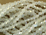 Opalescent Bicone Crystal Glass Beads 4mm (CRY23)