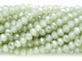 Pale Sage Green Crystal Glass Beads 6mm (CRY76)