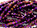 Metallic Purple Bicone Crystal Glass Beads 4mm (CRY27)