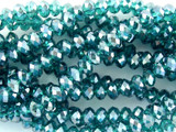 Transparent Turquoise Crystal Glass Beads 6mm (CRY78)