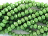Green Crystal Glass Beads 6mm (CRY85)