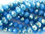 Medium Blue Crystal Glass Beads 8mm (CRY89)