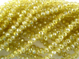 Transparent Yellow Crystal Glass Beads 4mm (CRY43)