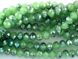 Frosty Green Crystal Glass Beads 8mm (CRY94)