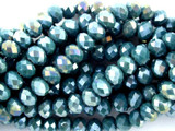 Dark Teal Crystal Glass Beads 8mm (CRY97)