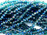 Transparent Blue Crystal Glass Beads 4mm (CRY57)