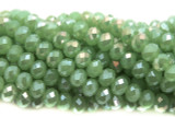 Green Crystal Glass Beads 10mm (CRY108)