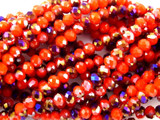 Red & Purple Crystal Glass Beads 4mm (CRY59)
