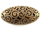 Copper Pewter Bead - Oval 42mm (PB380)