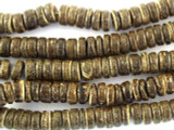 Coconut Wood Dark Rondelle Beads 8mm - Indonesia (WD850)