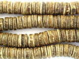 Coconut Wood Brown Rondelle Beads 10mm - Indonesia (WD852)