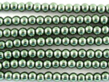 Sage Green Glass Pearl Beads 3mm (PG10)