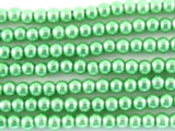 Sea Foam Green Glass Pearl Beads 3mm (PG18)