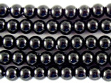 Black Glass Pearl Beads 4mm (PG20)