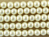 Ivory Glass Pearl Beads 4mm (PG22)