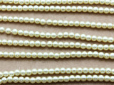 Ivory Glass Pearl Beads 4mm (PG27)