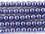 Blue Glass Pearl Beads 4mm (PG28)