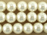 Ivory Glass Pearl Beads 8mm (PG34)