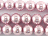 Pink Glass Pearl Beads 8mm (PG36)