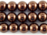 Brown Glass Pearl Beads 8mm (PG39)