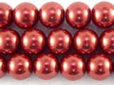 Red Glass Pearl Beads 10mm (PG43)
