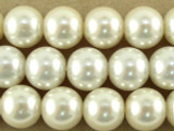 Ivory Glass Pearl Beads 10mm (PG46)