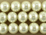 Ivory Glass Pearl Beads 10mm (PG47)
