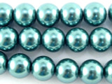 Turquoise Glass Pearl Beads 10mm (PG50)
