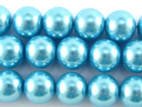 Blue Glass Pearl Beads 10mm (PG51)