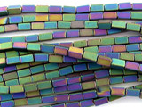 Jeweltone Electroplated Hematite Square Tube Gemstone Beads 2mm (GS3065)