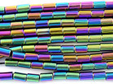 Jeweltone Electroplated Hematite Tube Gemstone Beads 6mm (GS3079)