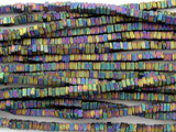 Jeweltone Electroplated Hematite Square Heishi Gemstone Beads 2mm (GS3085)