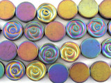 Jeweltone Electroplated Hematite Rose Gemstone Beads 12mm (GS3088)