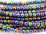 Jeweltone Electroplated Round Hematite Gemstone Beads 4mm (GS3092)