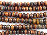 Red Tiger Eye Rondelle Gemstone Beads 8mm (GS3095)