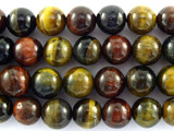 Mixed Tiger Eye Gemstone Beads 10mm (GS3106)