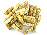 Assorted Natural Carved Bone Beads 23mm (AP1739)
