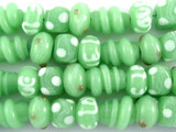 "Mint Green ""Love"" Lampwork Glass Beads 8-15mm (LW1457)"