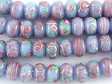 Lavender Rondelle Lampwork Glass Beads 12mm (LW1472)