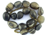 Old Agate Nugget Graduated Beads - Nepal 12-28mm (NP289)
