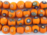 Orange Face Glass Beads - Nepal 29mm (NP264)