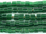 Green Fluted Glass Beads - Nepal 4mm (NP488)