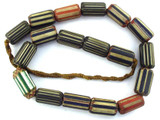 Chevron Beads - Nepal 25-30mm (NP579)