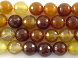 Rusty Agate Faceted Gemstone Beads 10mm (GS3116)